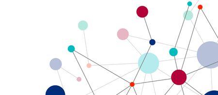 Illustration pour Line points connections geometric abstract background. - image libre de droit