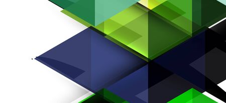 Illustration pour Colorful repeating triangles modern geometric in contemporary style on white background. Abstract geometric shape. Modern stylish texture - image libre de droit