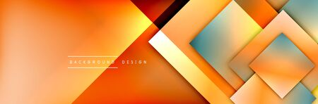 Illustration for Square shapes composition geometric abstract background. 3D shadow effects and fluid gradients. Modern overlapping forms - Royalty Free Image