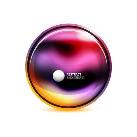 Illustration pour Circle button or banner for text design template. Abstract background or button concept. Vector illustration - image libre de droit