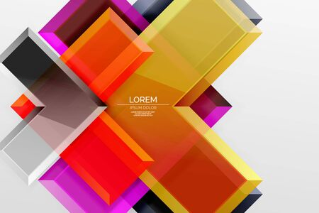 Illustration for Metal arrow shape background. Abstract geometric background with 3d effect composition For Wallpaper, Banner, Background, Card, Book Illustration, landing page - Royalty Free Image