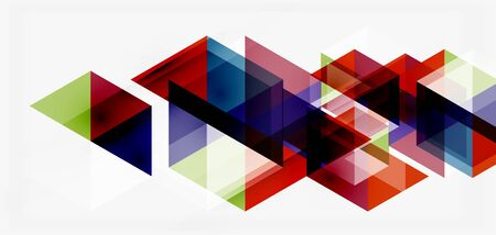 Illustration pour Geometric abstract background, mosaic triangle and hexagon shapes. Trendy abstract layout template for business or technology presentation, internet poster or web brochure cover, wallpaper - image libre de droit