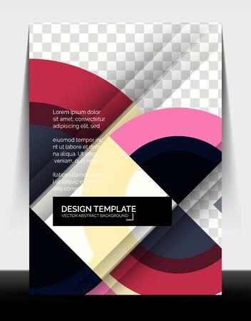 Illustration pour Circle design a4 flyer print template, annual report design - image libre de droit