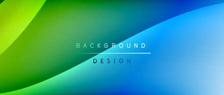 Photo pour Fluid gradient waves with shadow lines and glowing light effect, modern flowing motion abstract background for cover, placards, poster, banner or flyer - image libre de droit
