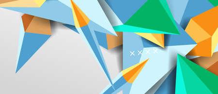 Illustration pour 3d low poly abstract shape background vector illustration - image libre de droit
