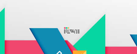Illustration for Shiny color triangles and geometric shapes vector abstract background - Royalty Free Image