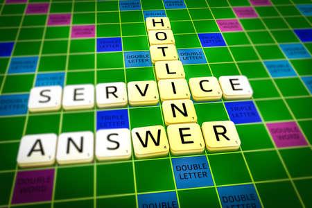 Photo pour Hotline words aligned - image libre de droit