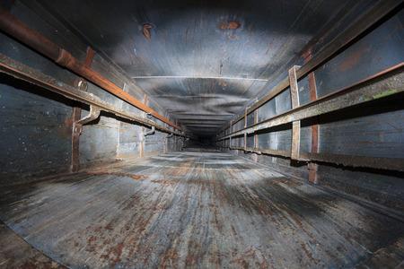 lift shaft abandoned with dot flash light