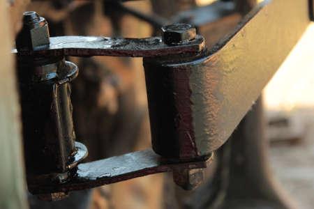 Dismantled Old Automobile Wheels Spring System Photo Shot.