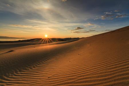 Beautiful views of the Gobi desert. Mongolia.
