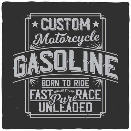 Illustration for Vintage label design with lettering composition on dark background. T-shirt design. - Royalty Free Image