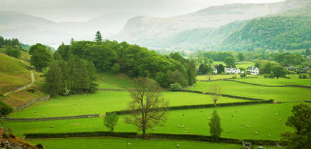 English countryside in spring, Lake District, Cumbria, UK