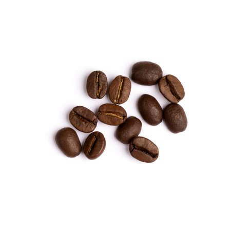 Photo for coffee beans isolated on white, close up - Royalty Free Image