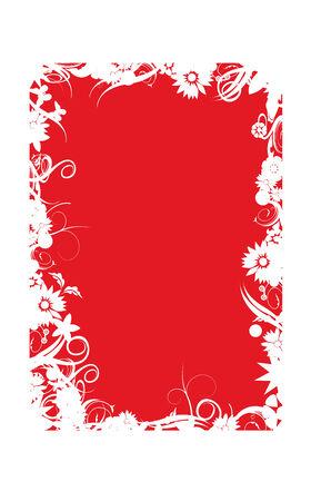 Foto per sfondo decorato rosso e bianco - Immagine Royalty Free