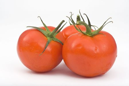 Juicy Tomatoes isolated over white