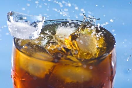 ice splash refreshment soda cold drink isolated