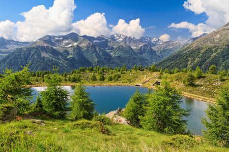 Doss dei Gembri small lake in Pejo Valley, Trentino, Italy