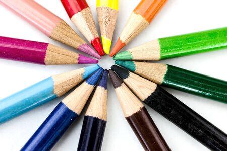 Foto per pastelli colorati - Immagine Royalty Free