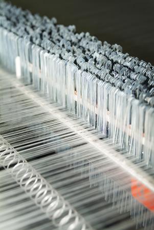 Photo pour Detail of Textile Machine working in a factory - image libre de droit