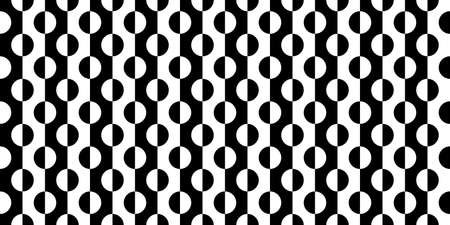 Illustration pour Black And White Seamless Abstract Pattern Vector Illustration - image libre de droit