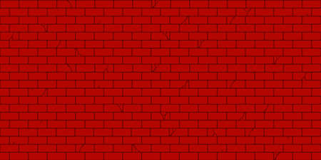 Illustration for Flat Red Brick Wall Seamless Texture Decorative Background Vector Illustration Art - Royalty Free Image