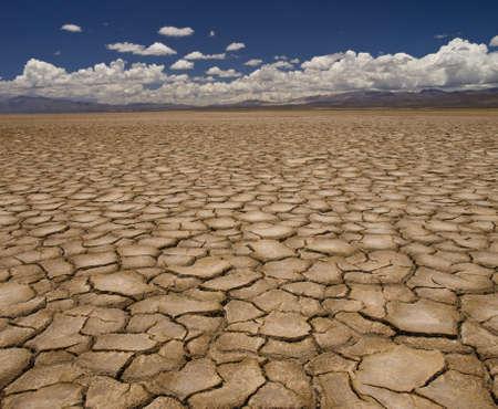 Photo pour Large field of baked earth after a long drought. - image libre de droit