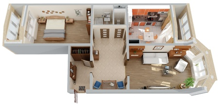 apartment top view