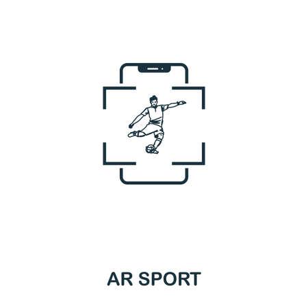 Ar Sport icon. Mobile app, printing, web site icon. Simple element sing. Monochrome Ar Sport icon illustration.