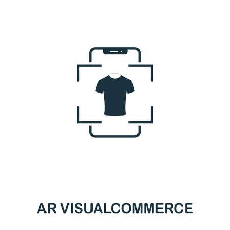 Ar Visualcommerce icon. Mobile app, printing, web site icon. Simple element sing. Monochrome Ar Visualcommerce icon illustration.