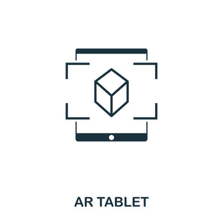 Ar Tablet icon. Mobile app, printing, web site icon. Simple element sing. Monochrome Ar Tablet icon illustration.
