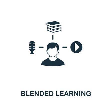 Illustration pour Blended Learning creative icon. Simple element illustration. Blended Learning concept symbol design from online education collection. Can be used for web, mobile, web design, apps, software, print - image libre de droit