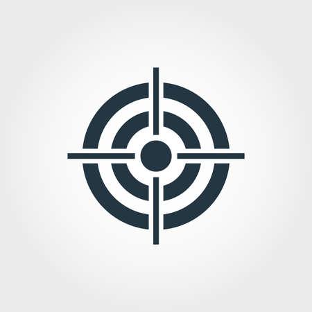 Illustration pour Target icon. Monochome premium design from business icons collection. UX and UI simple pictogram target icon. - image libre de droit