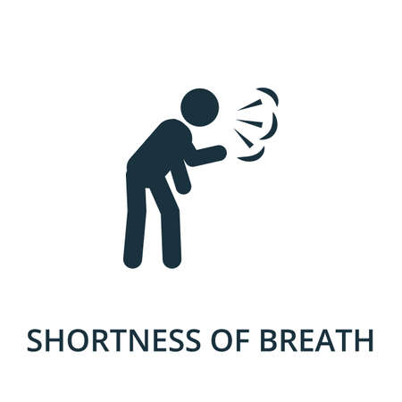 Illustration pour Shortness Of Breath icon. Simple illustration from coronavirus collection. Creative Shortness Of Breath icon for web design, templates, infographics and more. - image libre de droit