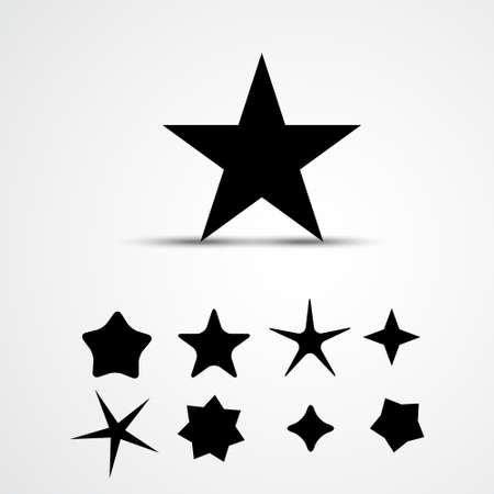 Star vector icon. Set. Illustration