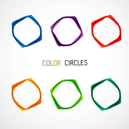 Ilustración de Color circles set - Imagen libre de derechos