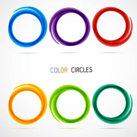 Ilustración de Circle set. Business Abstract Circle icon. - Imagen libre de derechos