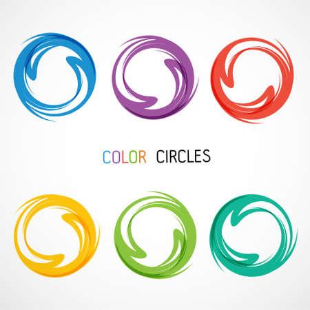 Illustration pour Color circles set - image libre de droit