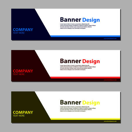 Illustration pour Vector abstract web banner design template on grey background. - image libre de droit