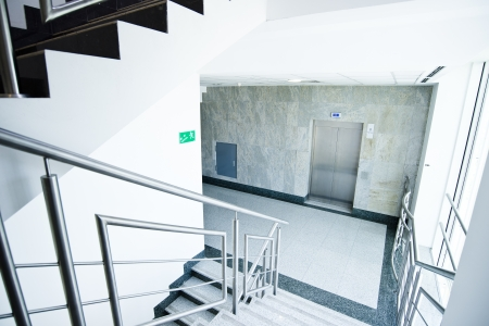 staircase - emergency exit in office building