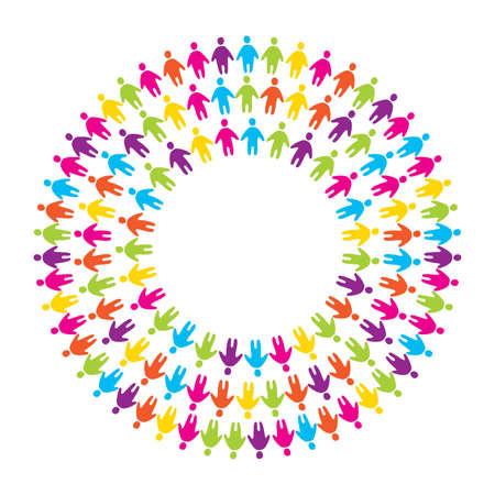 Illustration pour sign-symbol - the unity, friendship and alliance - image libre de droit