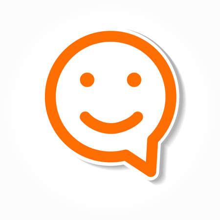 Illustration pour Happy smile - face chat speech bubble icon. Template for design. - image libre de droit