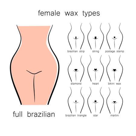 Bikini design - female wax types