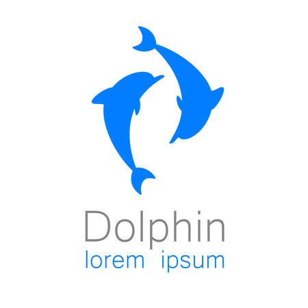 Dolphin. Template design of logo for the company.