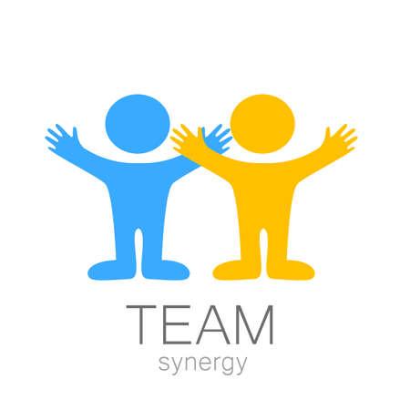 Illustration pour Team sign - vector template.  - image libre de droit