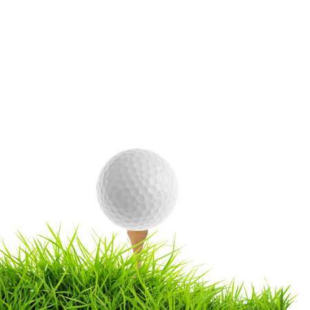 golf isolated on white