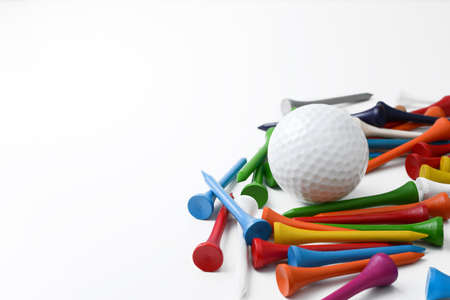 golf ball and tee
