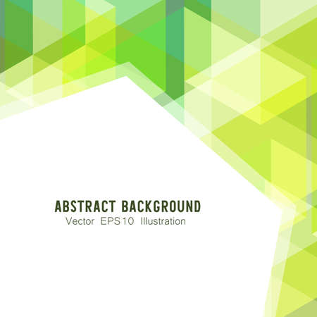 Photo pour Abstract geometric or isometric white and green polygon or low poly vector technology concept background. EPS10 illustration style design. - image libre de droit
