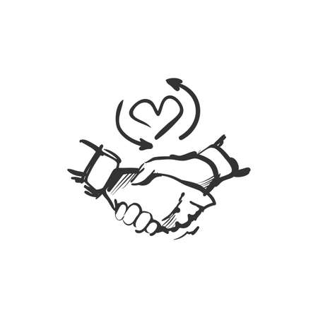 Illustration pour Loyalty line icon.Loyalty program. Isolated vector illustration - image libre de droit