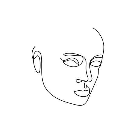 Illustration for Portrait minimalist style continuous line art - Royalty Free Image