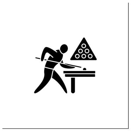 Ilustración de Snooker glyph icon - Imagen libre de derechos